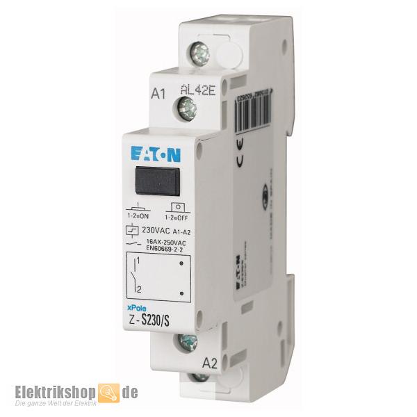 Eaton Z-S230/S Stromstoßschalter 230V 16A 1S - Elektrikshop.de