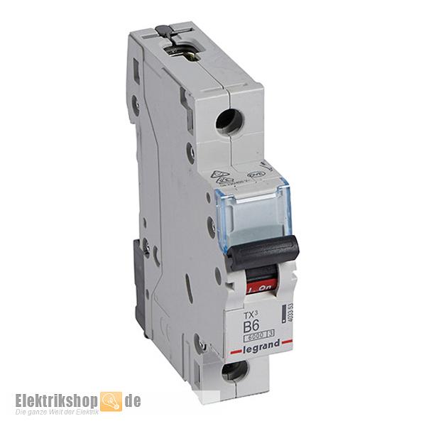 Legrand 403353 Leitungsschutzschalter 6a B Tx3 Elektrikshop De