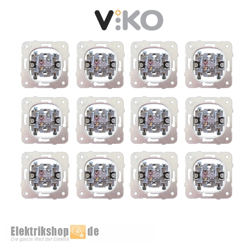12 Stk. Ausschalter / Wechselschalter Schaltereinsatz EGB VIKO