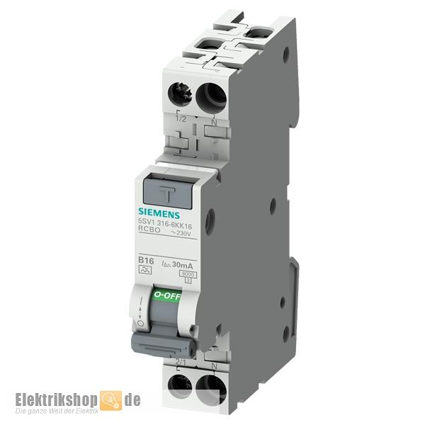 FI-LS Schalter B 16/0,03A 1TE 5SV1316-6KK16 Siemens