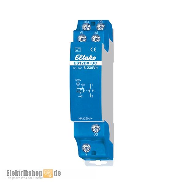 Stromstoßschalter elektronisch 8-230V 1S 1TE ES12DX-UC Eltako