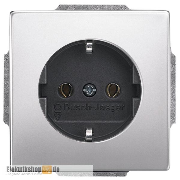 Pur Edelstahl Steckdosen-Einsatz 20EUC-866 Busch Jaeger