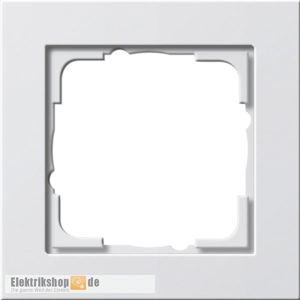 Abdeckrahmen 1-fach E2 reinweiß glänzend 021129 Gira