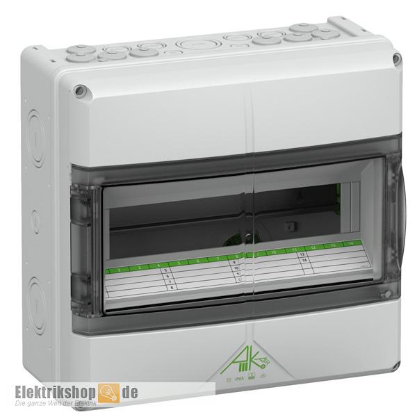 Kleinverteiler 1-reihig Feuchtraum IP65 73341401 AK14 Spelsberg
