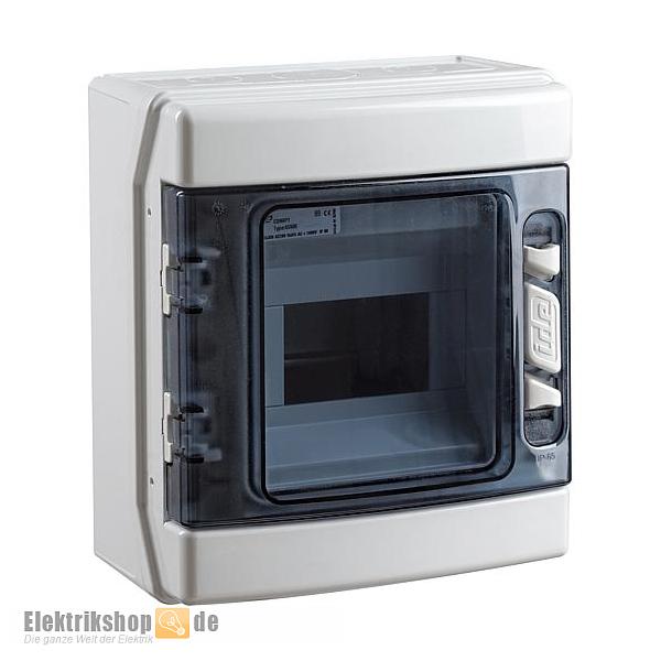 Kleinverteiler Feuchtraum AP IP65 1-reihig 1x6 TE IDE