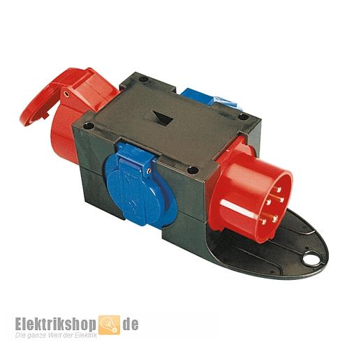CEE-Adapter 16A / 16A mit 2 Schuko-Steckdosen 9430402 PCE