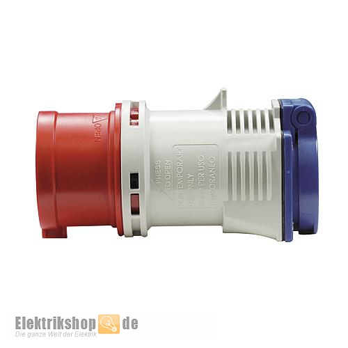CEE-Adapterstecker 16A / 1 Schukosteckdose 9433020 PCE