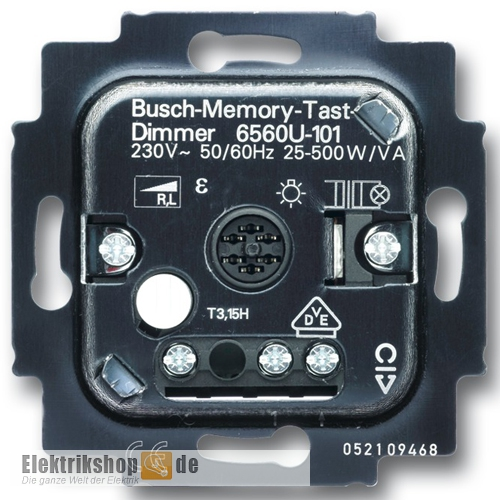 busch jaeger 6560 u 101 memory tastdimmer. Black Bedroom Furniture Sets. Home Design Ideas