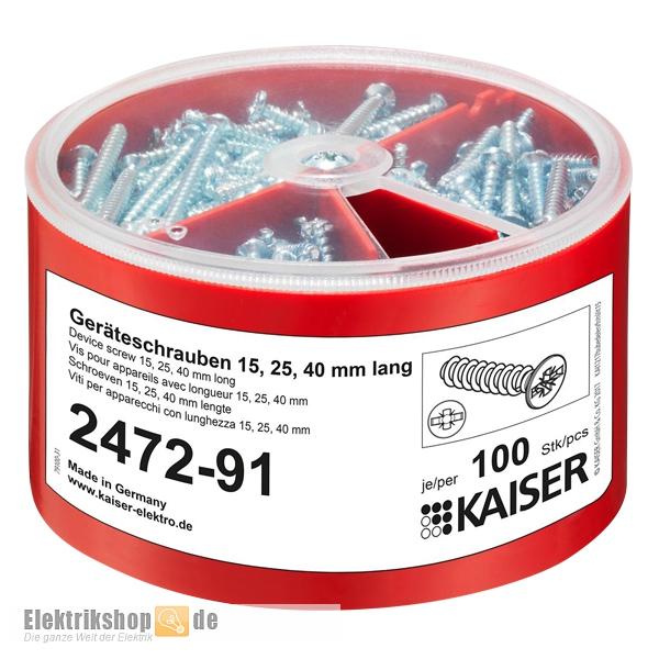 Kaiser Schrauben-Box 2472-91 mit Geräteschrauben
