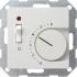 Raumtemperatur-Regler mit Schalter 230V reinweiß gl 039203 Gira