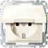 Steckdose IP44 m. Klappdeckel weiß/cremeweiß MEG2314-0344 Merten