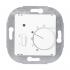 Raumtemperatur-Regler mit Schalter Karre reinweiß EGB VIKO