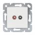Lautsprecher-Steckdose mit Zentralscheibe 50x50 rw EGB VIKO