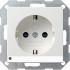 Steckdose mit LED-Orientierungslicht reinweiß seidenmatt 117027 Gira