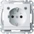 Steckdose mit LED Lichtauslass polarweiß gl MEG2304-0319 Merten
